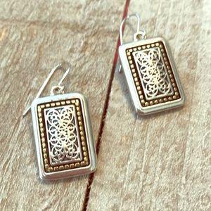 💎Premier Designs Silver Rectangular Earrings💎